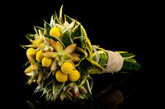 Exotic bouquet on black background Stock Photo