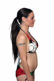 Exotic Brunette Two Months Pregnant (3) Royalty Free Stock Images