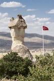 Exotic Cappadocia Turkish Flag Stock Images