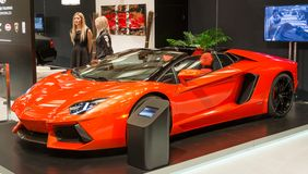 Exotic Car Pavillion at the CIAS 2014 Stock Image