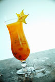 Exotic carambola cocktail Royalty Free Stock Image