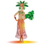 Exotic Carnival Beautiful Girl-Brazil Royalty Free Stock Photo