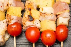 Exotic Chicken Skewers Stock Images
