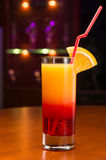 Exotic cocktail in bar Stock Photography