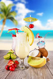 Exotic cocktails Royalty Free Stock Photography