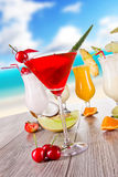 Exotic cocktails Royalty Free Stock Images