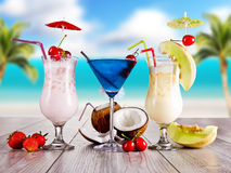 Exotic cocktails Stock Photos