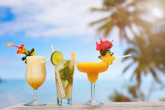 Exotic cocktails Royalty Free Stock Photo