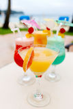 Exotic cocktails Stock Photography