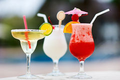 Exotic cocktails Royalty Free Stock Image