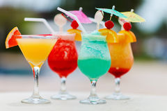 Exotic cocktails royalty free stock photos