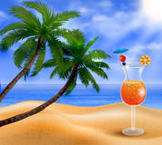 Exotic coconut cocktail Stock Images