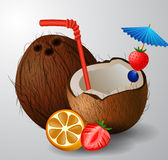 Exotic coconut cocktail Royalty Free Stock Images