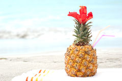 Exotic coctail on the beach Royalty Free Stock Photo