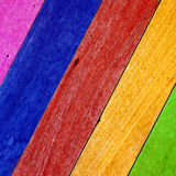 Exotic color wooden wall Stock Photo