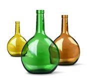 Exotic colorful glass bottles Stock Photo