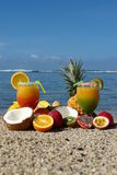 Exotic composition of fruits Royalty Free Stock Photos