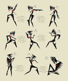 Exotic dance. Women s attitudes show how to dance exotic dance royalty free illustration