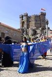 Exotic Dancer, Medieval Market and Castle, Travel Europe Royalty Free Stock Photography