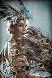 Exotic dancer, tinted retro image Stock Image