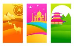 Exotic destinations royalty free illustration