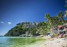 Exotic diniwid beach in tropical paradise boracay philippines Stock Images