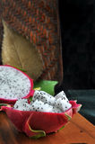 Exotic dragon fruit portion Stock Photography
