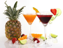 Exotic drinks Stock Photo