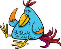 Exotic fantasy bird cartoon illustration Royalty Free Stock Image