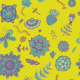 Exotic fantasy floral pattern Stock Photo