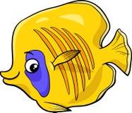 Exotic fish cartoon character. Cartoon Illustration of Exotic Fish Sea Life Animal Character Stock Images