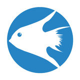 Exotic fish silhouette icon. Vector illustration design Royalty Free Stock Photos