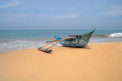 Exotic fisherman boat . Royalty Free Stock Photo