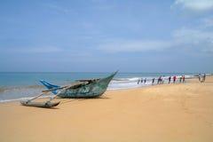 Exotic fisherman boat . Stock Photos