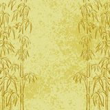 Exotic flora, background. Exotic background, contour bamboo trees and abstract grunge pattern Royalty Free Stock Photo