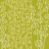 Exotic flora, background. Exotic background, contour bamboo plants and abstract grunge pattern Stock Photos