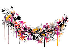 Exotic floral background stock illustration