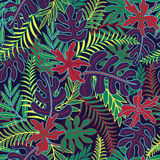 Exotic floral seamless pattern Royalty Free Stock Photo