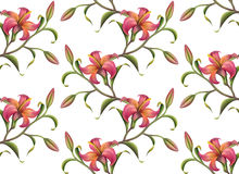 Seamless flower pattern background Stock Images