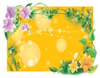 Exotic flower frame Royalty Free Stock Photo