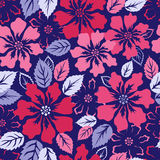 Exotic flowers fashion repeatable pattern Royalty Free Stock Photo