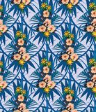 Exotic flowers seamless pattern. Hand drawn vector. Seamless pattern with flowers. Hand drawn vector Stock Photography