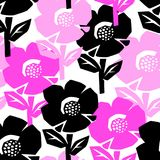 Exotic flowers seamless pattern. Royalty Free Stock Photo