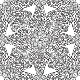 Exotic flowers. Traditionaln South Eastern Asia ornament. Popular in Buddha temples decoration. Intricate hand drawing. Solated on white background. EPS10 Royalty Free Stock Images