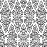 Exotic flowers. Traditionaln South Eastern Asia ornament. Popular in Buddha temples decoration. Intricate hand drawing. Solated on white background. EPS10 Stock Photos