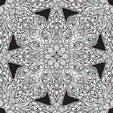 Exotic flowers. Traditionaln South Eastern Asia ornament. Popular in Buddha temples decoration. Intricate hand drawing. Solated on white background. EPS10 Royalty Free Illustration