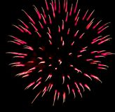 Exotic focus-poll images of fireworks, isolated for composing. Into your art Stock Photography