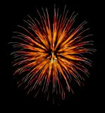 Exotic focus-poll images of fireworks, isolated for composing. Into your art stock image