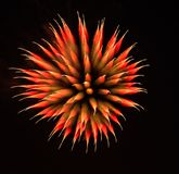 Exotic focus-poll images of fireworks, isolated for composing. Into your art Royalty Free Stock Photos