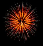 Exotic focus-poll images of fireworks, isolated for composing. Into your art royalty free stock images